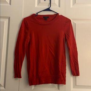 Red Teddy Sweater - J crew